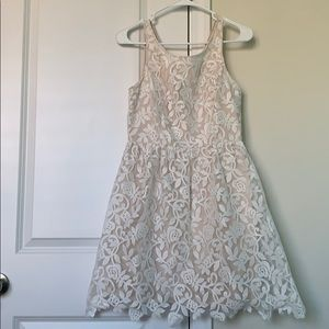 Altar'd State Cream with Lace Overlay Dress